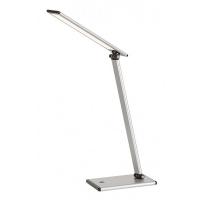 Lampa de birou LED, H:46cm, argintiu
