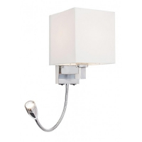 Aplica LED Larkin, H:55cm, crom/alb