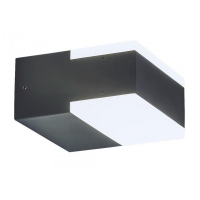 Aplica Bona, IP54, 9W-LED, antracit, 11x6x12cm