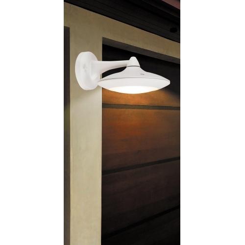 Aplica exterior retro LED Oakland, IP54, alb