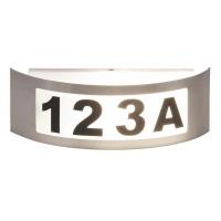 Aplica numar casa Innsbruck, L:32cm, IP44, argintiu