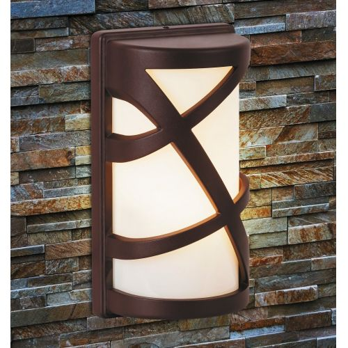 Aplica exterior Durango, H:27cm, IP54, maro/alb