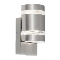 Aplica semicilindrica LED Cambridge, H:21cm, IP44, inox