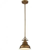 Mini-pendul Quoizel Emery, alama, D:20cm, H:35-126cm, 1x100W