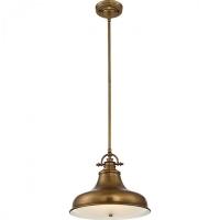 Pendul Quoizel Emery, alama, D:34cm, H:42-104cm, 1x100W-E27