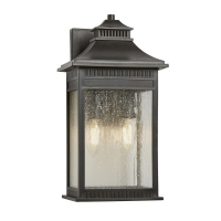 Aplica exterior Quoizel Livingston M, bronz, H:36cm, L:18cm, 2x40W-E14