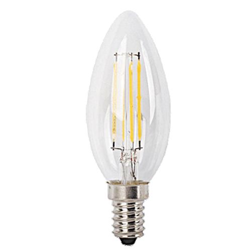 Bec LED filament lumanare E14 4W 450lm 2700K, lumina calda, 1592