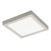 Plafoniera inteligenta FUEVA-C, 30x30cm, H:4cm, 21W-LED-RGB+Alb reglabil, 2700lm, patrata, nichel