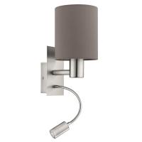 Pasteri 96481, lampa de citit cu LED, antracit-maro, 2 intrerupatoare
