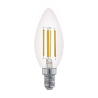 Bec E14-LED lumanare 3,5W transparent 2200K dimmabil