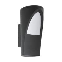 Aplica ultramoderna de exterior Propenda, antracit, H:26cm, 1x60W-E27, IP44