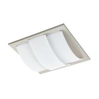 Plafoniera/aplica Aranda patrata, nichel/alb, L:29cm, 11W-LED, 950lm, alb cald