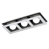 Aplica Bellamonte 1, crom/negru/alb, L:37cm, 3x3.3W-LED, 1020 lumeni, alb cald