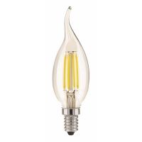 Bec LED filament flacara E14-CF35-4W 350lm 2700K, 1656, lumina calda