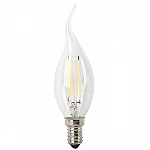 Bec LED filament flacara E14-CF35-4W 450lm 2700K, 1593, lumina calda