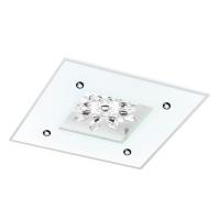 Plafoniera Benalua 1, alb/oglinda/cristal, L:37cm, 1x18W-LED, 2000 lumeni, alb cald