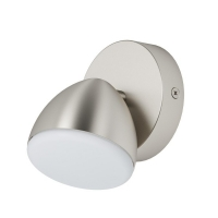 Spot Calvos 96807, nichel, D:9,5cm, 1x6W-LED, 500lm, 3000K, lumina alba calda