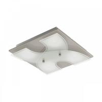 Plafoniera Dirus 96397, nichel mat/alb, L:29cm, 4x3,3W-LED, lumina calda, 1360lm