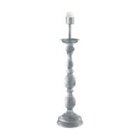 Baza veioza Larache 49947, argintiu, H:64cm, 1xE27, cu intrerupator pe cablu