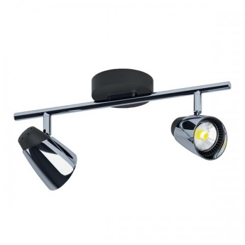 Spot Moncalvio 96716, negru/crom, L:36cm, 2x5W-GU10 LED, 800lm, 3000K, lumina alba calda