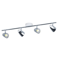 Spot Moncalvio 96837, alb/crom, L:78,5cm, 4x5W-GU10 LED, 1600lm, 3000K, lumina alba calda