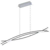 Suspensie Nevado 96331, crom, L:90cm, 3x9W-LED, 3000lm, inaltime reglabila max. 110cm