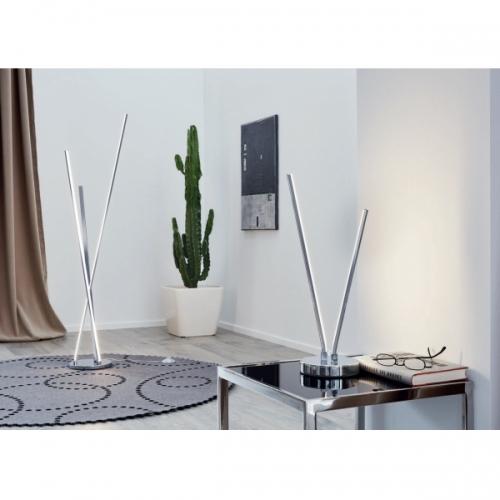 Veioza Parri 96322, crom, D:15cm, H:37cm, 3W-LED, cu intrerupator pe cablu, 330 lumeni