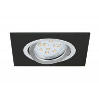Spot incastrabil Terni 1 96759, negru, L:9,5cm, 1x5W-GU10 LED, 400lm, 3000K, lumina alba calda