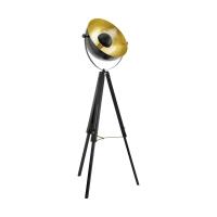 Lampadar Covaleda 49618, negru/auriu, D:55cm, H:164cm