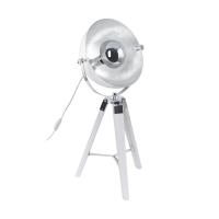 Veioza Covaleda 49876, alb/argintiu, D:38cm, H:73,5cm