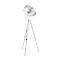 Lampadar Covaleda 49618, alb/argintiu, D:55cm, H:164cm