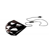 Veioza Carlton 1 49993, negru/cupru, L:28cm