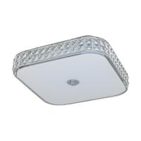 Plafoniera patrata Cardillio 96004, crom/cristal, L:40cm, 23,5W-LED, 2900lm