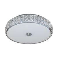 Plafoniera rotunda Cardillio 96005, crom/cristal, D:38,5cm, 23,5W-LED, 2900lm