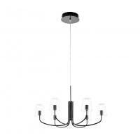 Lustra Noventa 1 96513, neagra, D:73cm, 6x3,3W-LED, 2050lm, H:110cm