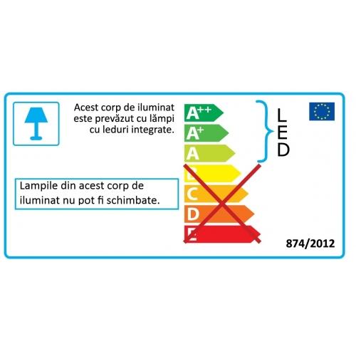 Lustra Aleandro 1 96529, D:66cm, 5x4,5W-LED, 2500lm, H:61-105cm