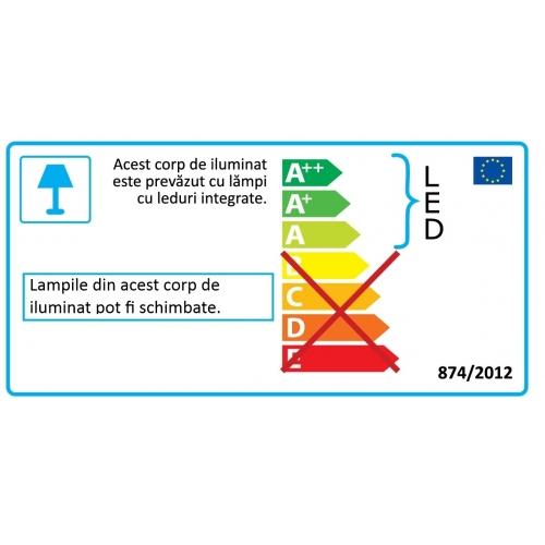 Plafoniera Persant 96613, nichel, L:56cm, 3x5W-LED GU10, 1200lm