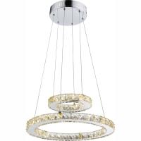 Suspensie cu cristale K9 Marilyn I 67037-24A, Globo cu cercuri concentrice