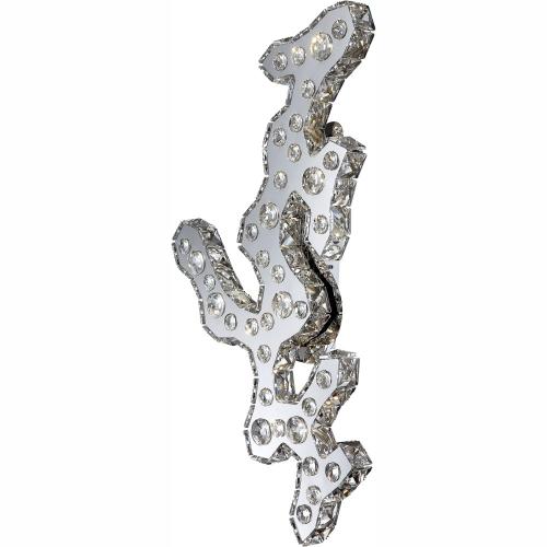 Aplica cu cristale K9 Nube 67040W1, Globo, 920lm, alb neutru