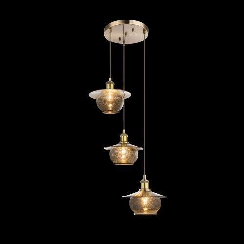 Candelabru retro Nevis 69030-3H, Globo, D:44.5cm, 3xE27