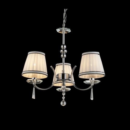 Lustra clasica Valle 69032-3 Globo cu 3 abajururi textile decorate