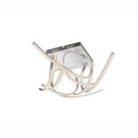 Plafoniera LED argintie cu cristale K5, Cagua 67089S Globo