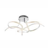 Plafoniera LED argintie, intensitate luminoasa reglabila, Salado 67090S Globo