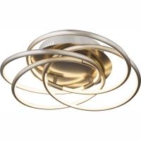 Plafoniera LED cu 4 cercuri nichel intersectate Barna 67828-40 Globo