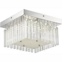 Plafoniera LED crom/transparent Simon 68395-18 Globo