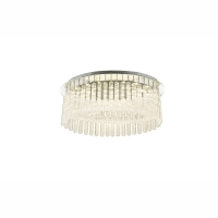 Plafoniera LED crom/sticla/sintetic Alvin 68569-15 Globo