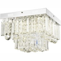 Plafoniera LED patrata cu plastic transparent Cleo 68594-6A Globo