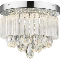 Plafoniera LED cu cristale sintetice Manilo 68598A Globo, D:28cm