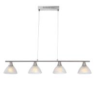 Suspensie LED nichel Ruben 68618-4 Globo, 1600 lumeni alb cald