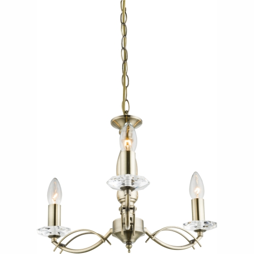 Lustra clasica cu ornamente de sticla Ralla 69016-3H Globo